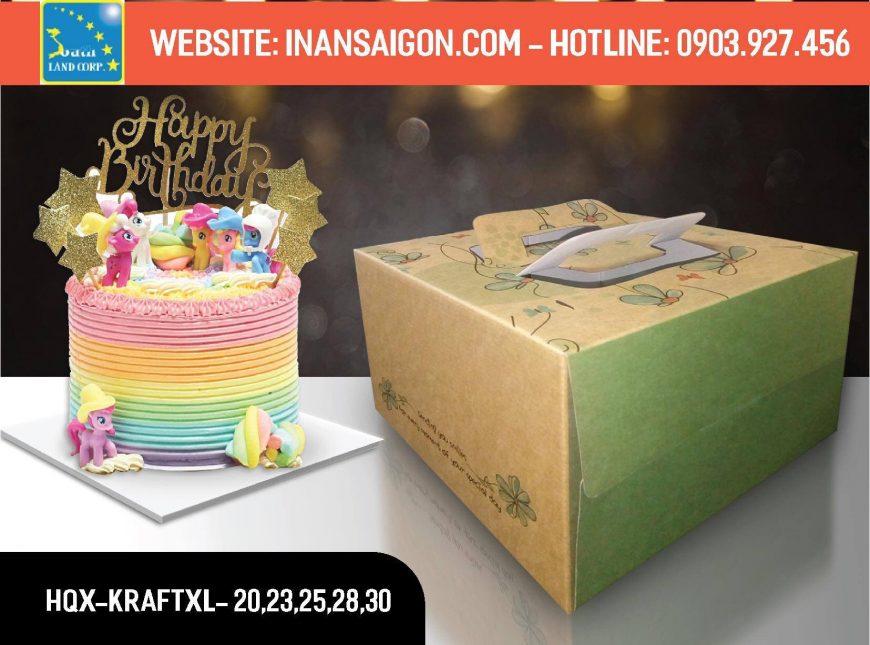 mẫu hộp giấy duplex đựng bánh sinh nhật