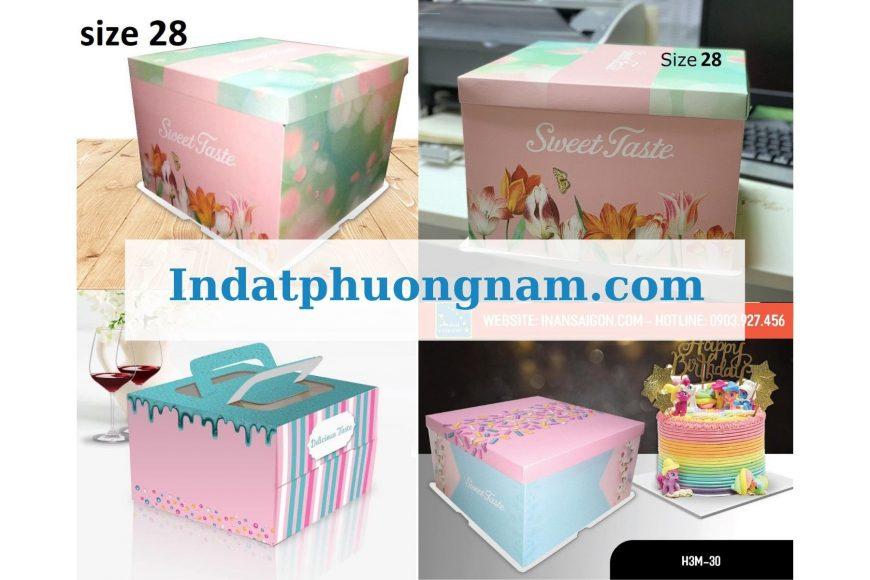 tổng hợp hộp giấy duplex bồi carton đựng bánh kem