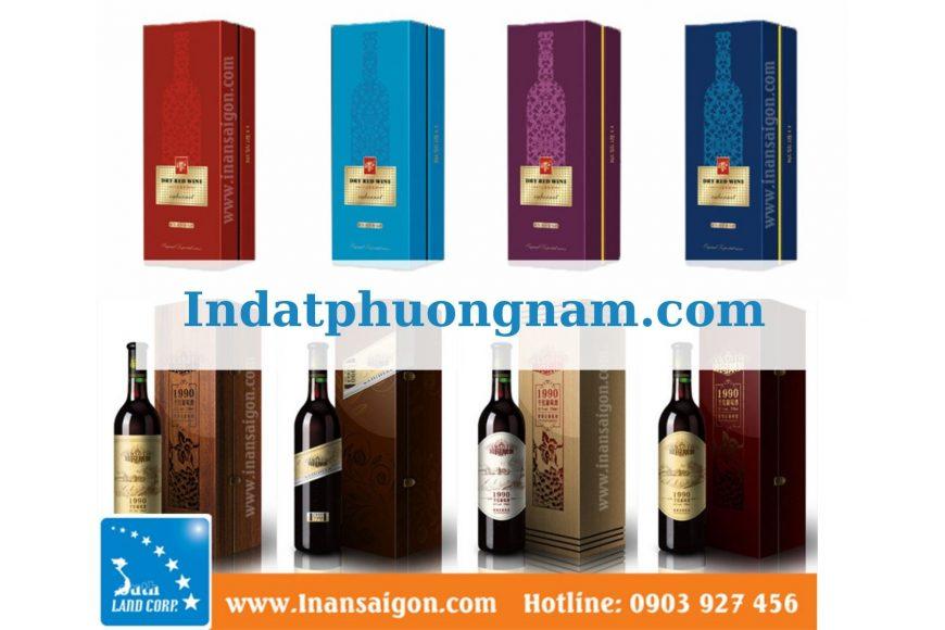 hộp đựng rượu theo yêu cầu