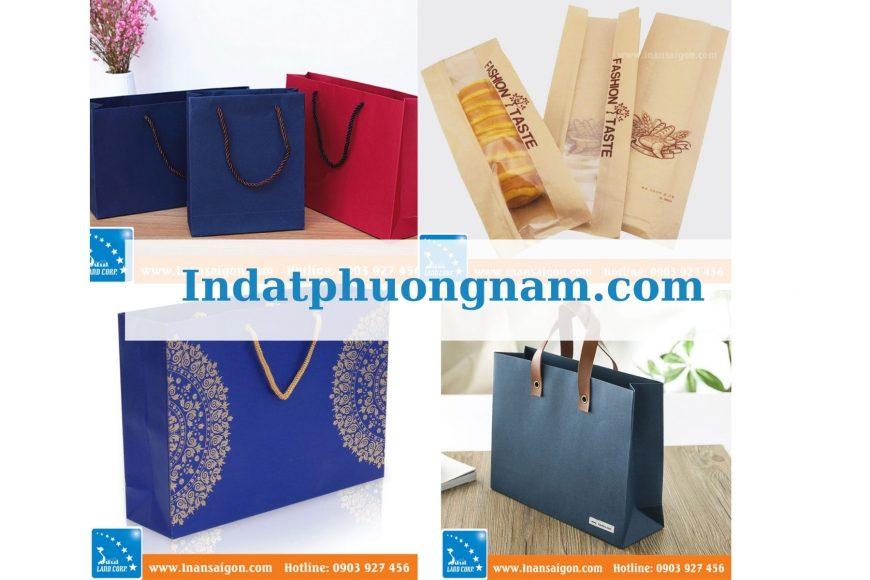 Tổng hợp túi giấy đựng đồ sản xuất theo yêu cầu