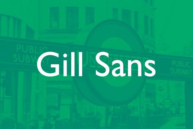font gill sans Kiểu chữ cổ điển trong thiết kế in ấn