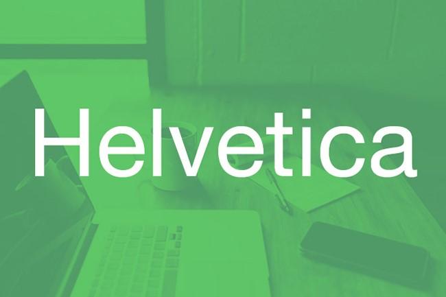 font helvetica Kiểu chữ cổ điển trong thiết kế in ấn