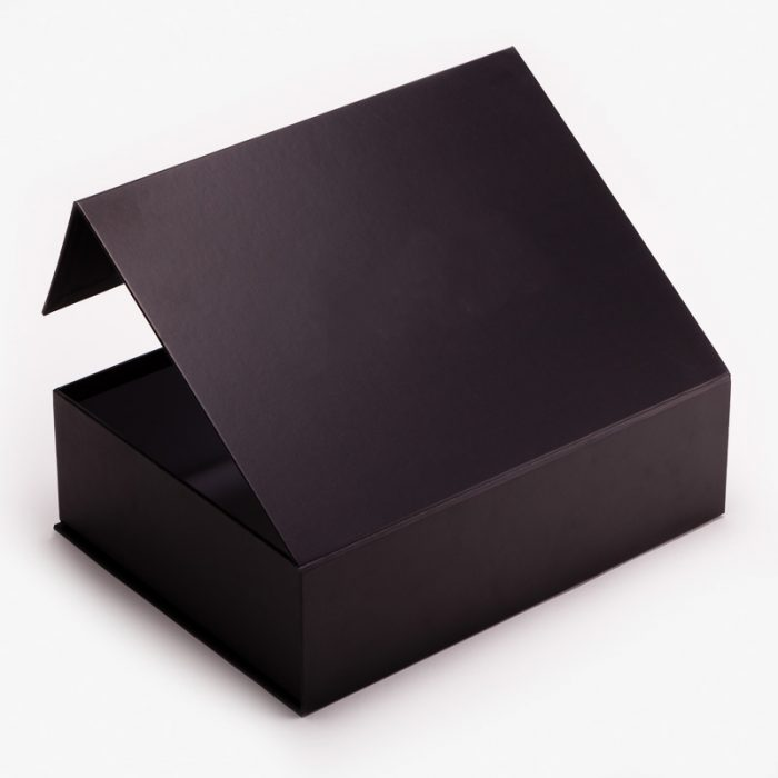 hộp giấy nắp nam châm màu đen huyền