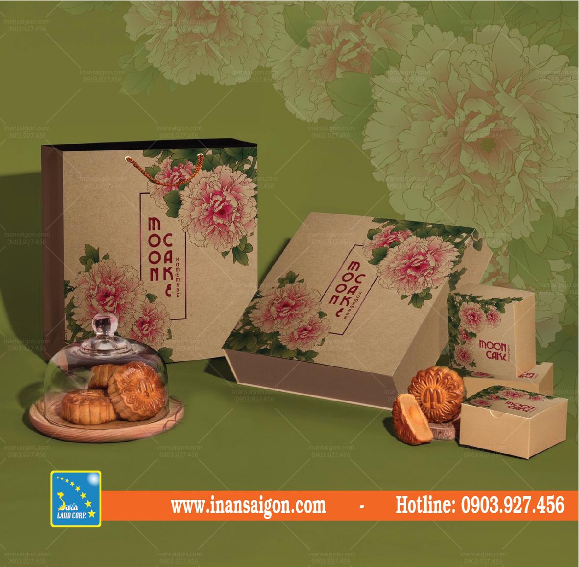 Một số mẫu hộp bánh trung thu giấy Kraft có sẵn tại Đất Phương Nam