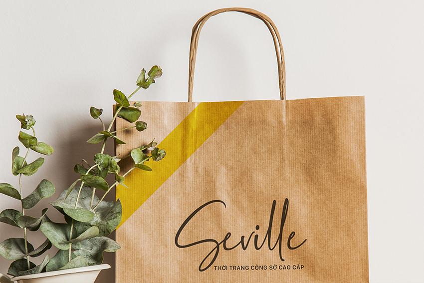 thiết kế bao bì túi giấy tối giản